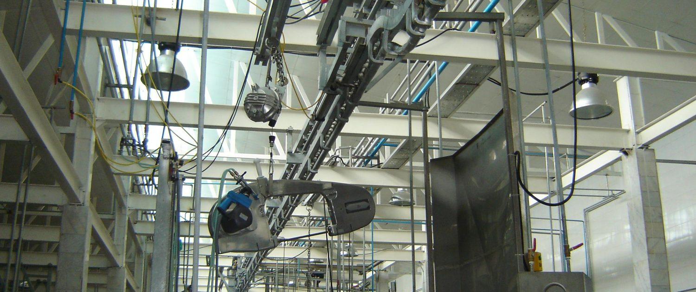 نصب و راه اندازي تجهيزات كشتارگاه صنعتی در شهرهاي خورين ، ايلام ، اقليد ، شهركرد و ياسوج