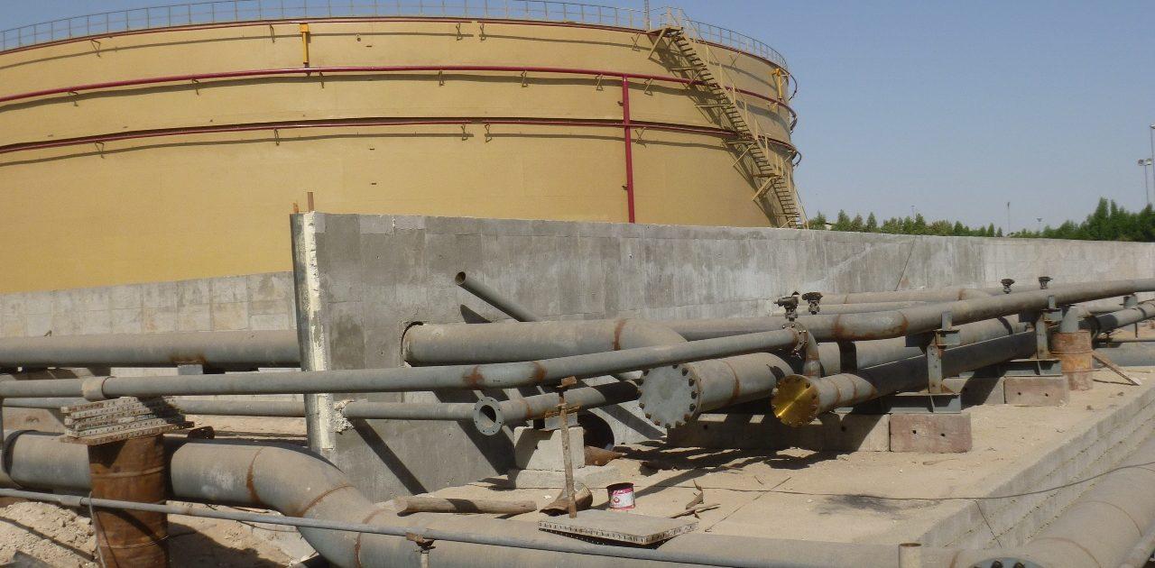 احداث مخازن فولادی نیروگاه بندرعباس