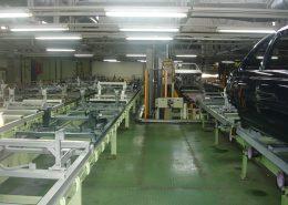 پروژه ساخت و نصب تجهیزات در کارخانه های ایران خودرو ، پارس خودرو و بن رو