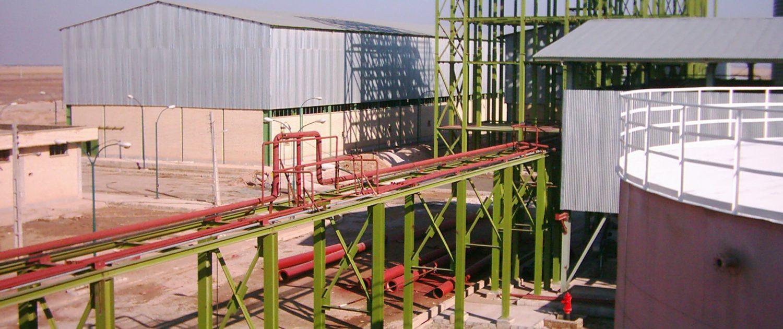 ساخت و نصب سازه برج توليد خوراك دام امیرکبیر
