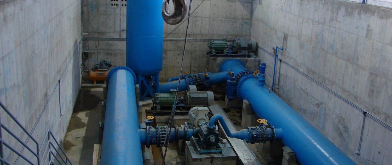 اجراي عمليات ساختمانی تجهيزات برقي و مكانيكي ايستگاه پمپاژ خط انتقال آب طالقان به تصفيه خانه دوم كرج
